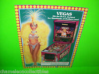 VEGAS By GOTTLIEB 1990 ORIGINAL Flipper PINBALL MACHINE Promo SALES FLYER