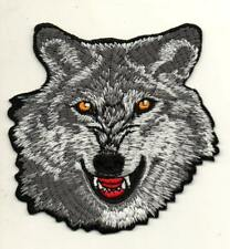 Wolf Animal Wildlife Bike P804 Embroidered Iron on Patch High Quality Jacket