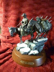 "Remington inspired, Bronze/,Pettis ""Ladies First, 11"" X 13"", swivel Oak base,"
