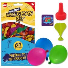 160x WATER BALLOONS Tap Fill Easy Tie Multicoloured Neon Waterbombs Summer Toys