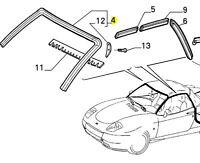 Fiat Barchetta Rubber Windscreen Scuttle - Roof Seal 46449607 New & Genuine