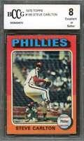 Steve Carlton Card 1975 Topps #185 Philadelphia Phillies BGS BCCG 8