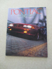 1988 Pontiac Firebird Grand Am Fiero Trans Am Bonneville advertising booklet --