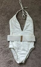 7398534ab0 Trina Turk White One Piece Swimsuit with detachable belt Brand New Size  Small
