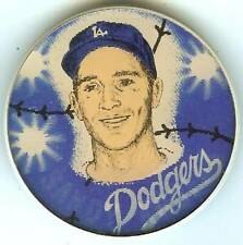 1960 dodger sandy koufax 3 d motion pinback souvenir button dodger stadium
