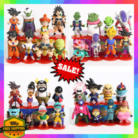 8 Dragon Ball Z Mini Action Figure Set Vegeta Goku Trunks Piccolo Frieza Collect