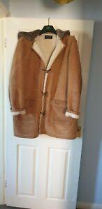 3/4 Length Sheepskin Duffel Coat