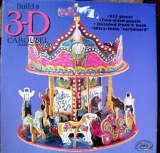 3D CAROUSEL MERRY GO ROUND 2 SIDED JIGSAW PUZZLE FRONT&BCK ULTRA THICK CORKBOARD