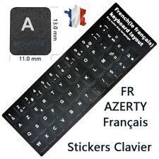 Autocollant Sticker clavier AZERTY FR Français Etiquettes Noir