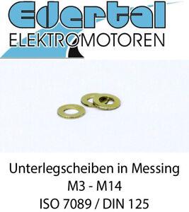 Unterlegscheiben DIN 125 ISO 7089 U-Scheiben Scheiben Messing blank MS M3 - M14