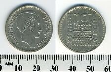 France 1949 - 10 Francs Copper-Nickel Coin - Laureate head right - #1