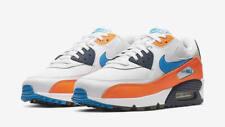 Men's Nike Air Max 90 Essential White Blue Orange AJ1285 104 UK 7_8_9.5_11