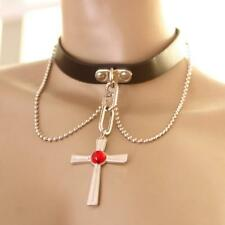 New 1PCS Rosario + Vampire Cosplay RosaVam Moka Akashiya Cross Necklace DQCA