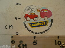 STICKER,DECAL MONROE SCHOKDEMPERS I AM RIDING ON AIR WITH CARAVAN