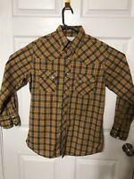 Wrangler Wrancher Shirts Men's Western Shirt Size M Flannel Multi Color Plaid