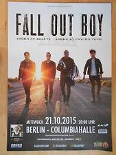 FALL OUT BOY 2015 BERLIN  -  orig.Concert  Poster  Konzert Plakat NEU  A1