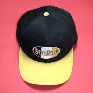 Vintage Pittsburgh Steelers Wool Starter Black Snapback Hat