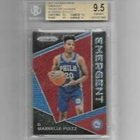 Markelle Fultz 2017-18 Panini Prizm Emergent Prizm Red Shimmer 4/8 BGS 9.5 POP 2