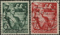 Stamp Germany Mi 660-1 Sc B116-7 1938 Reich Adolf Torch Brandenburg Gate Used