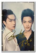 Signed The Untamed Chen Qingling Photo Wang Yibo Xiao Zhan Autographed 10*15CM
