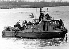 U.S. Fast Patrol Craft Boat PCF-71 Vietnam War Riverine Operation Photo