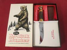 Rare 1970-1972 Case XX India Stag Kodiak Hunter Knife Original Dealer Packing