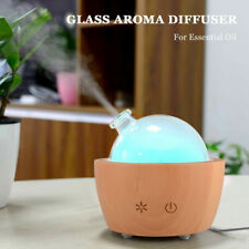 7 Led Essential Oil Diffuser Aromatherapy Glass Dome Ultrasonic Air Humidifier