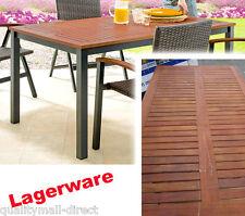 Lagerware: Aluminium GARTENTISCH Eukalyptus Holzplatte 150 x 90 cm ~cf-c