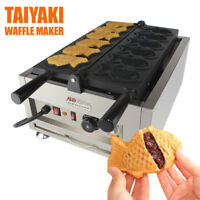 Taiyaki Fish Waffle Maker 110V | ALDKitchen 6 pcs Commercial Use Jam or IceCream