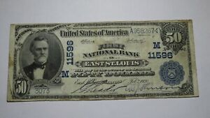 $50 1902 East St. Louis Illinois IL National Currency Bank Note Bill Ch. #11596
