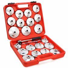 23Pc Oil Filter Removal Cap Wrench Garage Socket Set Aluminum Alloy Tool Kit LM