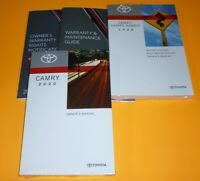 2020 TOYOTA CAMRY OWNERS MANUAL SET 20 + NAVIGATION GUIDE L LE SE XSE XLE NEW