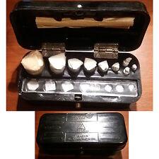 Boite complète de 17 poids en laiton chrome Origine Soviétique USSR, Russe 1973
