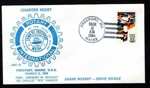 CHARTER NIGHT ROTARY INTERNATIONAL FREEPORT MAINE COVER - 1984