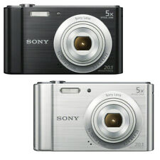 Sony Cyber-shot DSC-W800 20.1MP Digital Camera 5x Optical Zoom Black / Silver