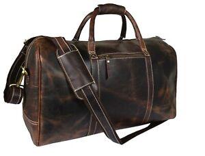 "Buffalo Leather Duffle Bag Weekend Travel Aircabin Carryon Luggage Handbags 20"""