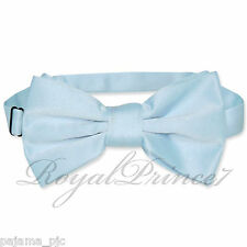 Classic New Light Blue Men's Pre-tied Bowtie Bow tie wedding Party Prom