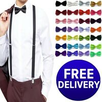 GIFTS FOR MEN Plain Solid Pre-Tied Adjustable Mens Party Wedding Tuxedo Bow Tie