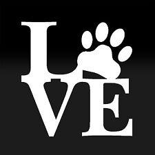 Love Paw Sticker Family Car Window Vinyl Decal Cute Animal Pet Dog Cat Wall