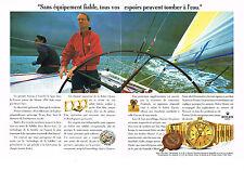 PUBLICITE advertisngi  1992   ROLEX DAY-DATE CHRONO  montre BRUCE FARR (2 p))