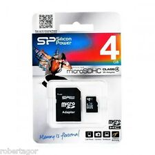 MICRO SD HC SDHC 4 GB WITH ADAPTER FOR SMARTPHONE PC VIDEO CAMERA VIDEOS ROOM