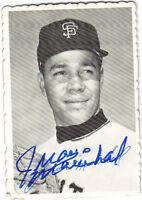 1969 Topps Deckle Edge JUAN MARICHAL Autograph / signed card Giants