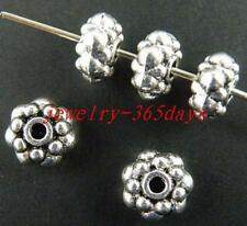 110pcs Tibetan Silver Nice Daisy Spacer Beads 8x4mm 358