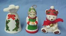Christmas Holiday Teddy Bear Dove Mrs Santa Claus Holly Bell C28 Lot