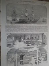British navy hospital ships for China HMHS Mauritius and Melbourne 1860 prints