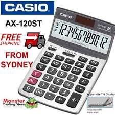 AUSTRALIAN SELER CASIO DESK CALCULATOR 12 DIGIT AX120 AX-120ST 12-MONTH WARRANTY