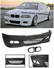 For 99-05 BMW E46 Sedan 4Dr M3 Style Front Bumper Cover With Fog Light Covers