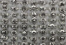 Mix 3D Skull Design Lots 8pcs Popular Classic Cool Men's Fashion Rings Free Ship
