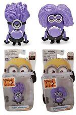 Despicable ME 2 One Plus Two Eye Evil Purple Minion 3D Toy Figure 2pc SET