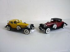 2 SOLIDO N° 55 CORD L 29 1929 - 1/43 - Made in France
